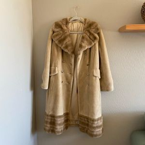 Vintage Jackets & Coats - VTG Borgana Fairmoor faux fur coat | Made in USA